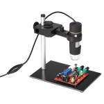 1000X Magnification USB Digital Microscope with OTG Function Endoscope 8-LED Light Magnifying Glass Magnifier with Stand